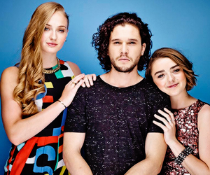 game of thrones, sophie turner, and kit harington image