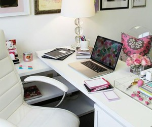 bedroom, desk, and cute image