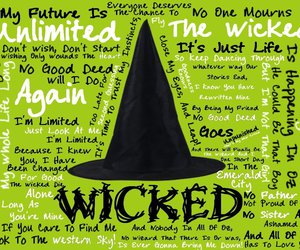 wicked, magic, and musical image
