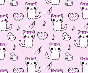 wallpaper, background, and cat image