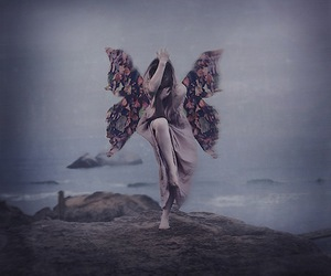 art, butterfly, and girl image