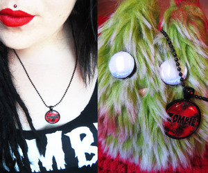 fashion, necklace, and zombie image