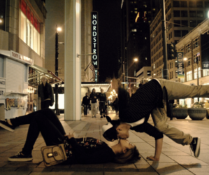 city, dance, and love image