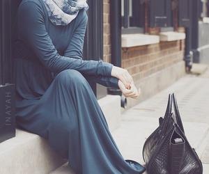 hijab, fashion, and bag image