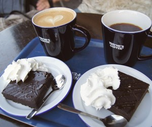 cafe, cake, and delicious image