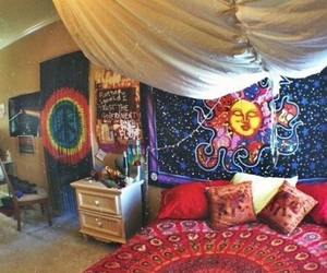bedroom, hippie, and room image