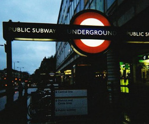 london, red, and tube image