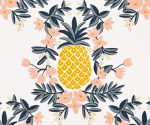 pineapple, flowers, and fruit image
