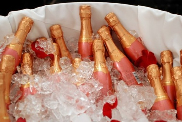 champagne, pink, and party image