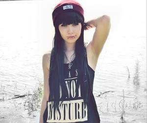alt girl and black hair image
