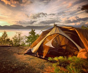 camping, nature, and outdoors image