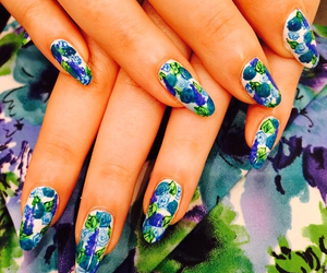 beautiful, nail art, and summer image