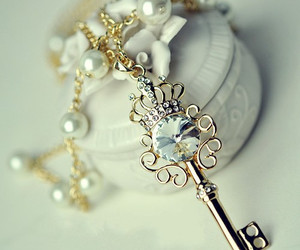key, necklace, and jewelry image