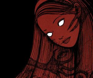 girl, horror, and manga image