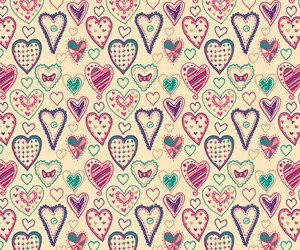 hearts, follow me, and love image
