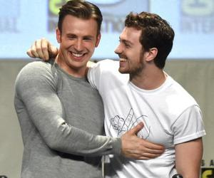 chris evans, aaron taylor johnson, and Avengers image