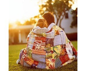 blanket, couple, and patchwork image