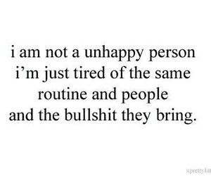 bullshit, unhappy, and people image