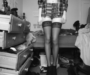 b&w and legs image