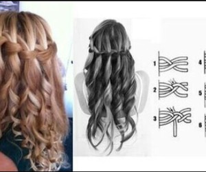 braid, curly hair, and fashion image
