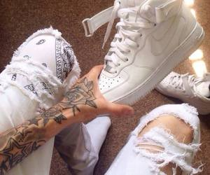 tattoo, nike, and white image