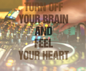 love, dj, and heart image