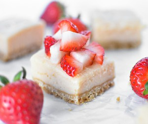 dessert, food, and strawberry image