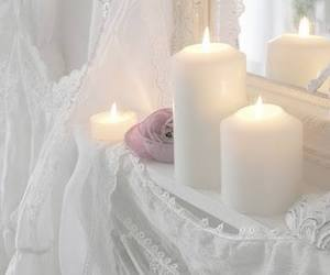 candles, white, and romantic image