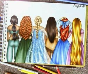 disney, princess, and drawing image