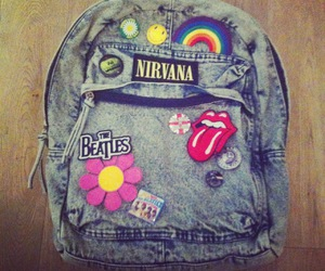 nirvana, the beatles, and bag image