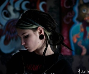 goth, Plugs, and gothic image