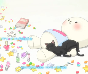 ao haru ride, anime, and cat image