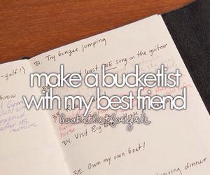 best friend and bucket list image