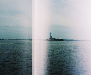 new york, photography, and statue of liberty image