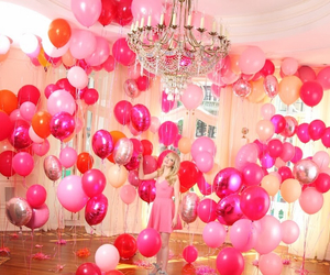 balloons, emma stone, and pink image