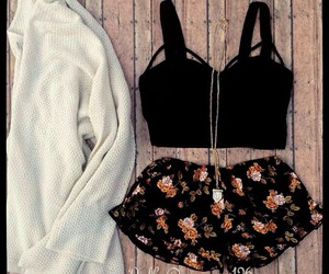 outfit, fashion, and floral image