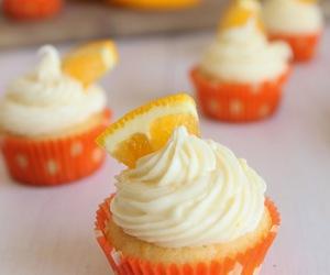 creamsicle, orange, and cupcakes image