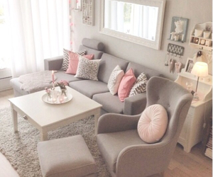 pink, room, and decoration image