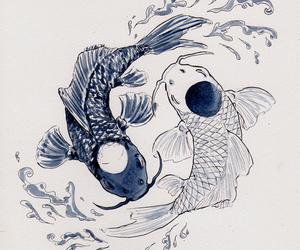 art, japan, and yin yang image