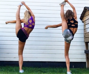 Cheerleaders, flexible, and inspiration image