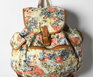 bag, fashion, and floral image