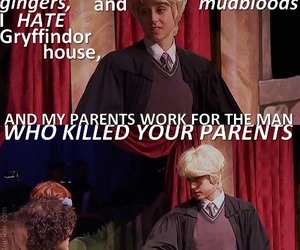 funny, draco, and harry potter image