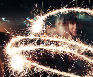 fireworks and light image