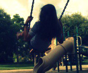 girl, park, and old image