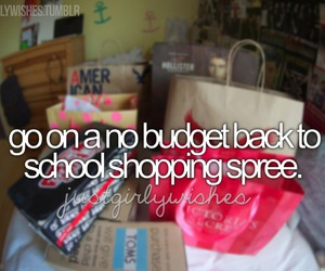 shopping, school, and justgirlythings image