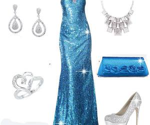 prom dress and blue and silver image