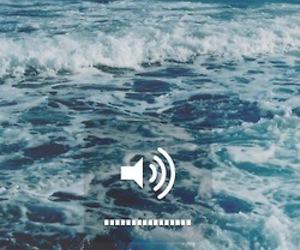 sea, music, and ocean image