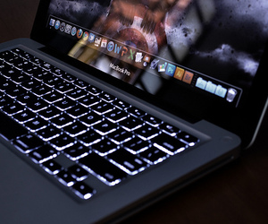 macbook, apple, and laptop image