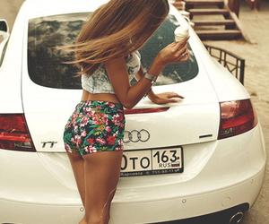 girl, car, and audi image