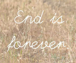 end, forever, and text image